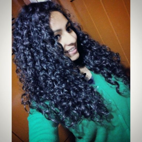 DIY orange hairspray hair 3a 3b Out & Loose Wash and Go Natural Hair Long curls Wash and Go blackhair care